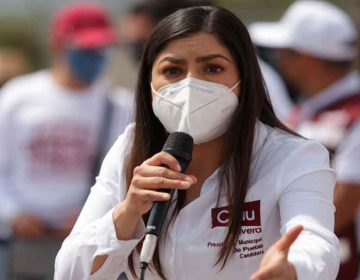 No infundan miedo, pidió Claudia Rivera a opositores