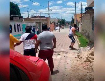 VIDEO. Candidato del PAN es recibido a pedradas