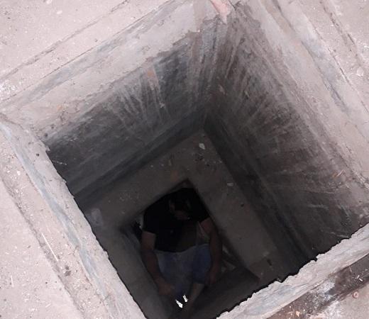 Rescatan a ebrio sujeto que cayó a un aljibe de 3 metros de profundidad en Aguascalientes