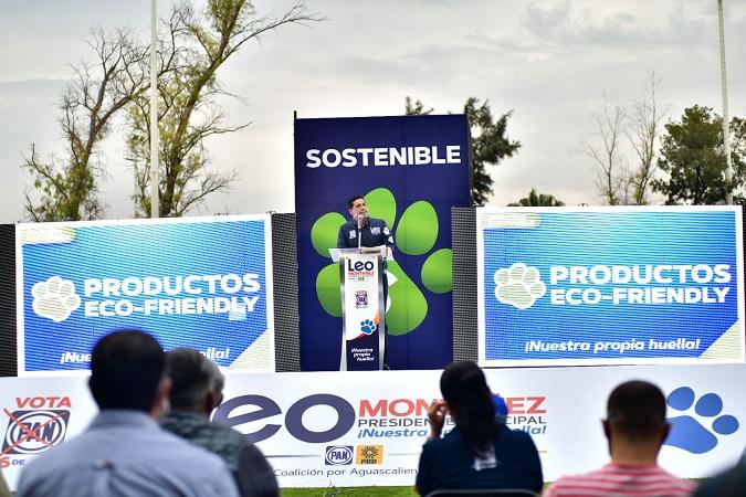 "Anuncia Leo Montañez eje ""Municipio sostenible"" para Aguascalientes"