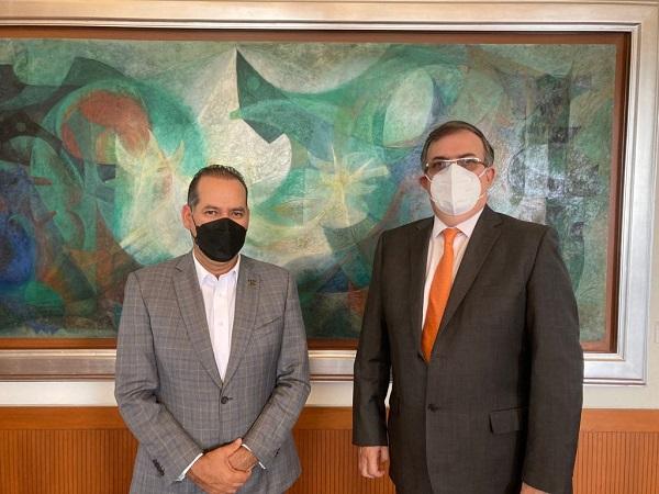 Se reúne gobernador de Aguascalientes con canciller Marcelo Ebrard