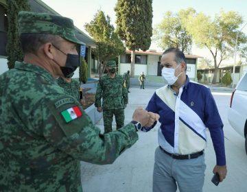 Se reúne gobernador de Aguascalientes con nuevo comandante de la XIV Zona Militar