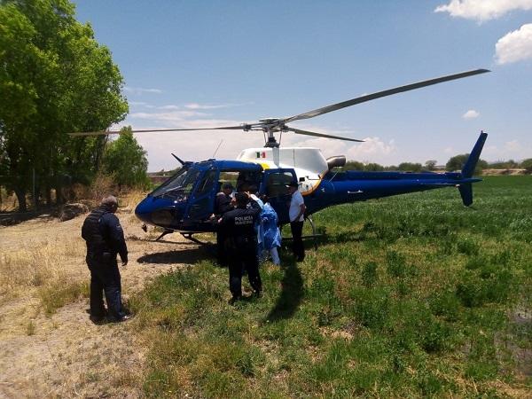 Trasladan en helicóptero a adolescente tras ser mordido por víbora de cascabel en Asientos
