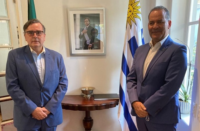 Se reúne gobernador de Aguascalientes con embajador de Uruguay