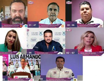 Se realiza debate del IEE con candidatas y candidatos a la presidencia municipal de Aguascalientes