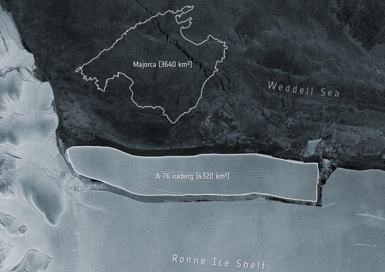 El iceberg más grande del mundo se desprende de la Antártida