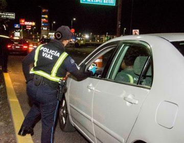 """62 detenidos tras reactivación de operativo """"Alcoholímetro"""" en Aguascalientes"""
