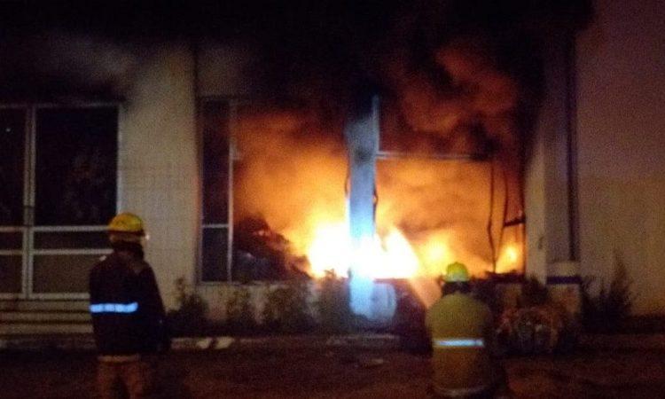 Incendian salón de Artes Plásticas en Jesús María