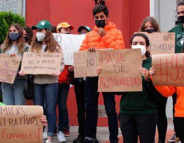 Alumnos de la UDLA Puebla desconocen nueva administración