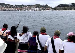 Delegación zapatista llega a Galicia tras 50 días de viaje
