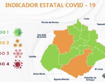 Ya son nueve municipios de Aguascalientes en color verde en el Indicador Estatal Covid