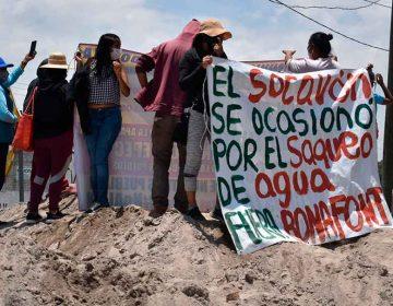 Las embotelladoras de agua pudieron haber causado el socavón en Juan C. Bonilla