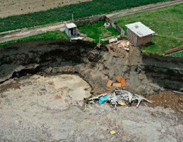 Todo el perímetro en la zona del socavón está en riesgo