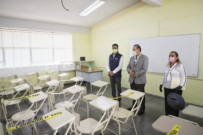 Supervisa gobernador de Aguascalientes protocolos sanitarios para el regreso a clases