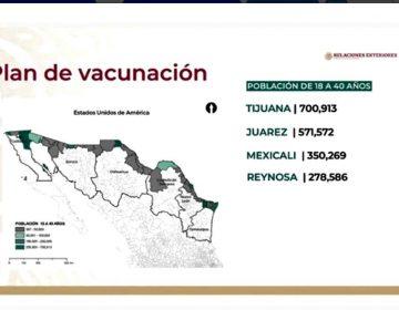 Así se distribuirá el millón de vacunas donadas por EU, para jóvenes en BC