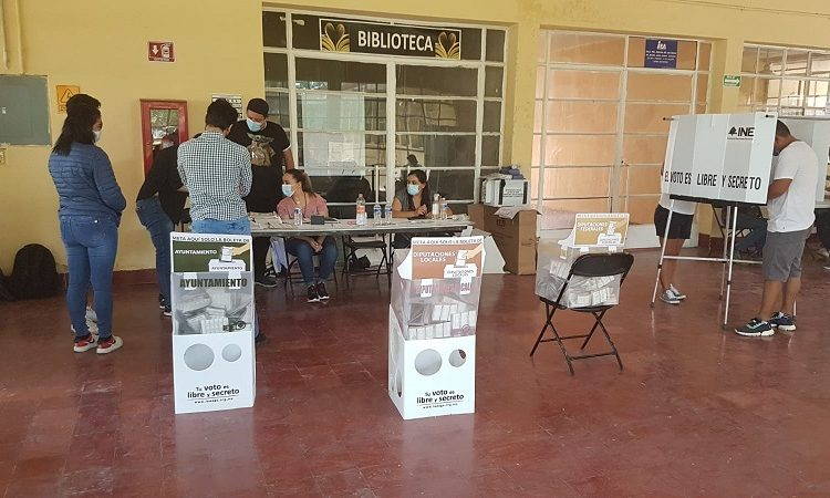 Atendió Guardia Sanitaria dos incidentes de aglomeraciones en casillas electorales