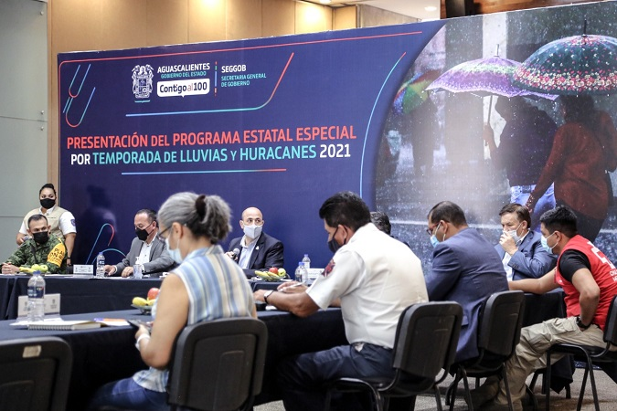 Presentan plan estatal por temporada de lluvias 2021 en Aguascalientes