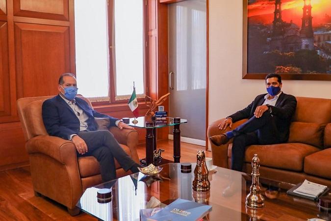 Se reúne Leo Montañez con el gobernador de Aguascalientes