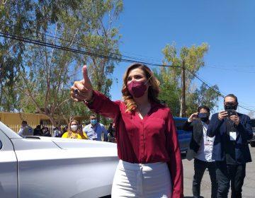 Vota Marina y pide a autoridades atender hechos violentos en elección