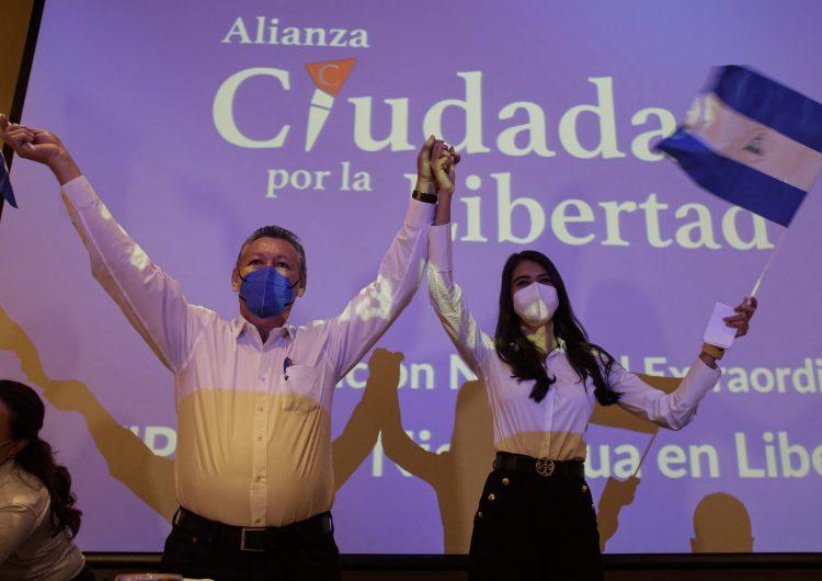 Nicaragua: Un ex guerrillero y una ex reina de belleza encabezan la fórmula presidencial contra Ortega