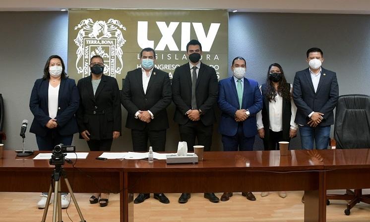 Entrevista Comisión de Justicia a terna de aspirantes a fiscal electoral de Aguascalientes
