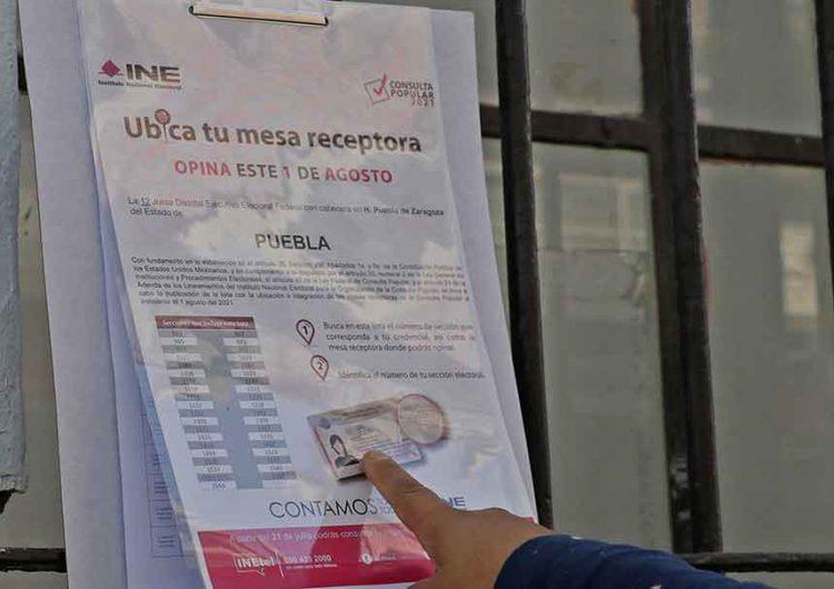 En tres sencillos pasos podrás participar en la Consulta Popular 2021 en Puebla