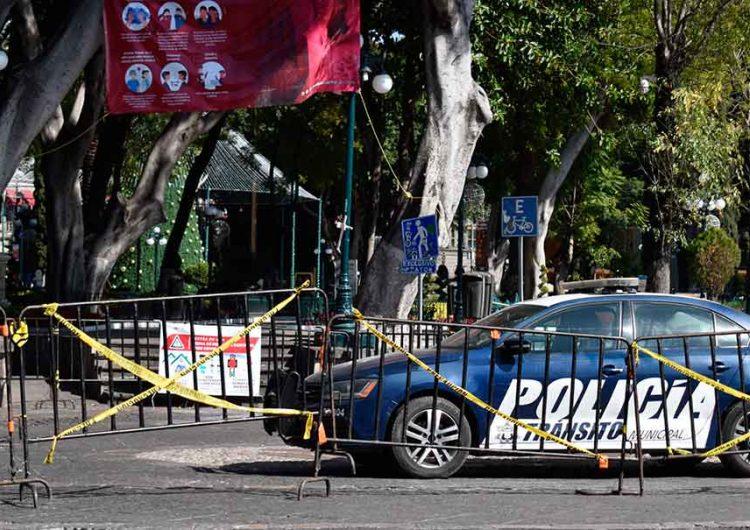 Por tercera ola Covid cerrarán el zócalo de Puebla
