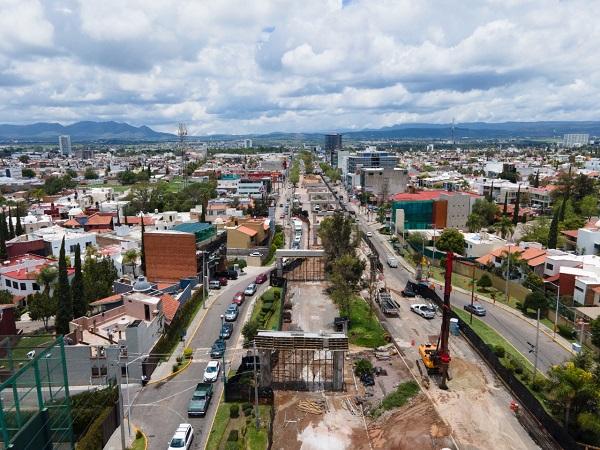 Distribuidor vial de Pulgas Pandas registra 30% de avance en su construcción