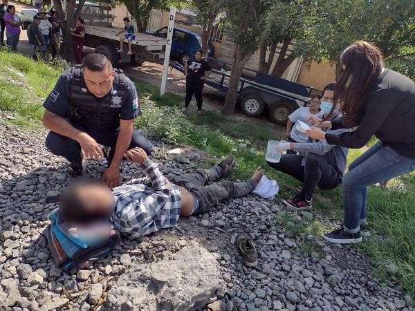 Joven guatemalteco cae del tren en Rincón de Romos mientras viajaba a EU