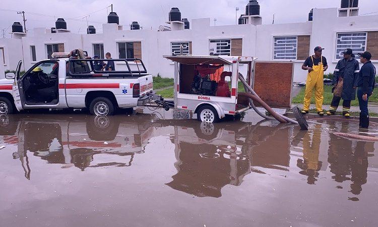 75 viviendas se inundaron en San Francisco de los Romo a causa de la lluvia de este jueves