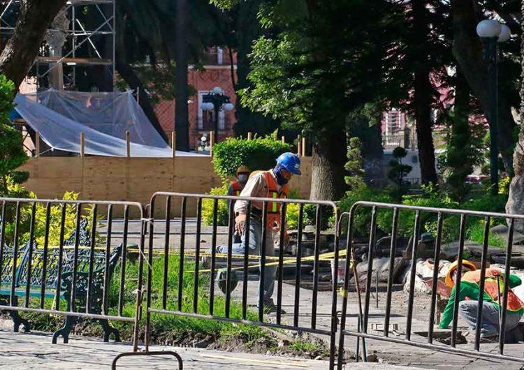 Zócalo de Puebla patrimonio histórico, en pésimas condiciones tras obras