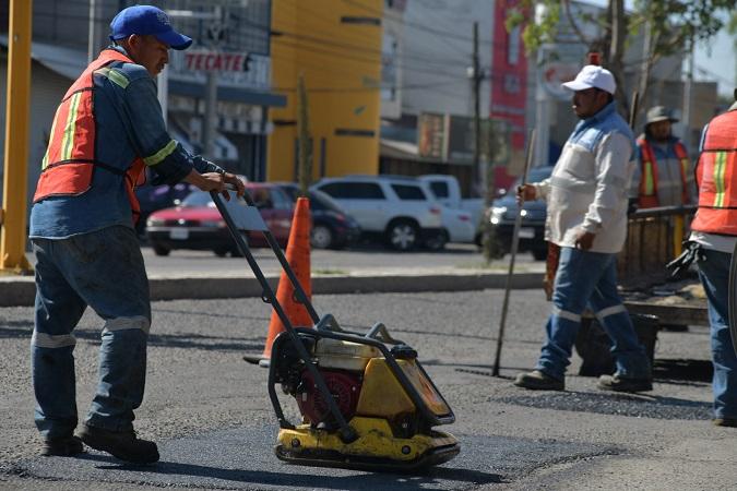 Intensificarán jornadas de bacheo en el municipio de Aguascalientes