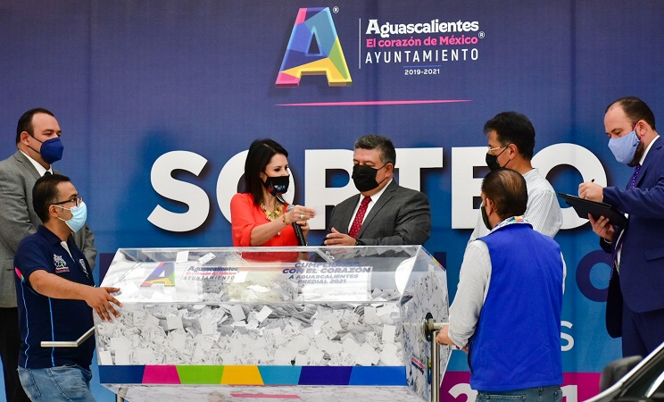 Anuncian ganadores del Sorteo Predial 2021 en el municipio de Aguascalientes