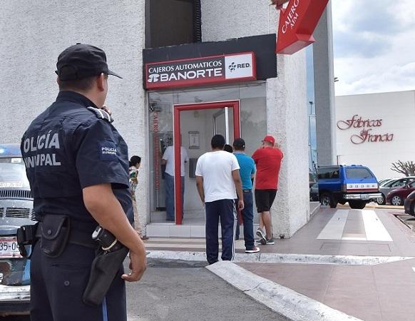 Disminuyen solicitudes de acompañamiento policial a cajeros y bancos