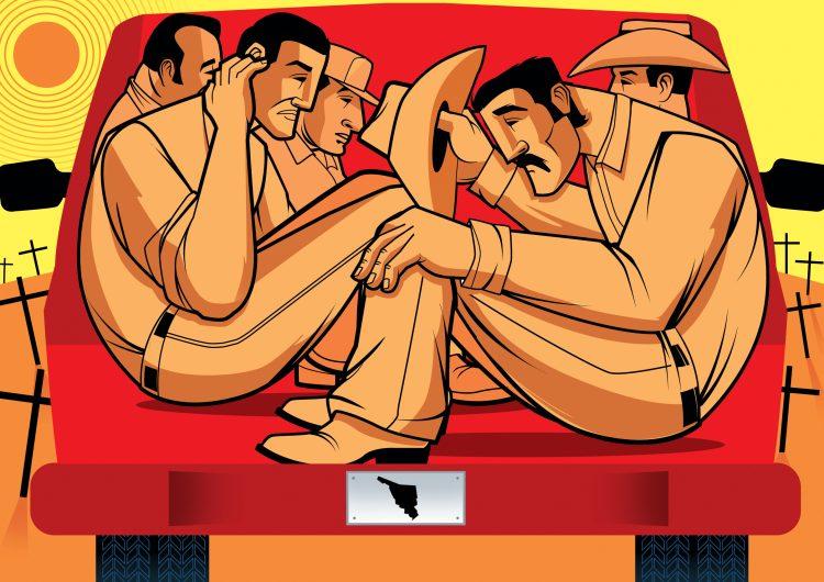 El peligroso trayecto de  los jornaleros de Sonora