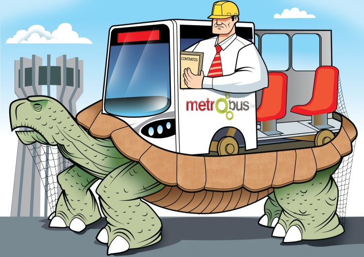 La inacabable ruta del Metrobús Laguna