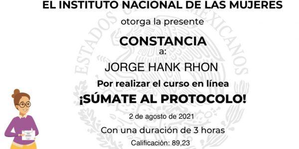 Concluye Jorge Hank sanción interpuesta por el Tribunal Estatal Electoral