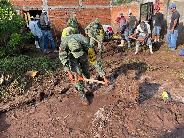 Aplica Ejército Mexicano plan DN-III tras desbordamiento de río en Calvillo