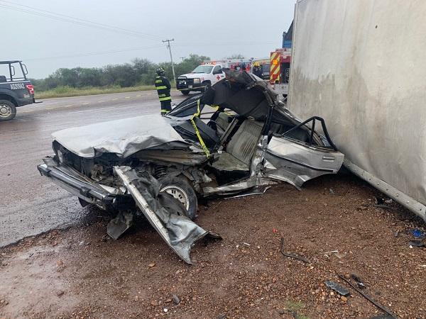 Cinco lesionados deja accidente vial en carretera a La Ribera