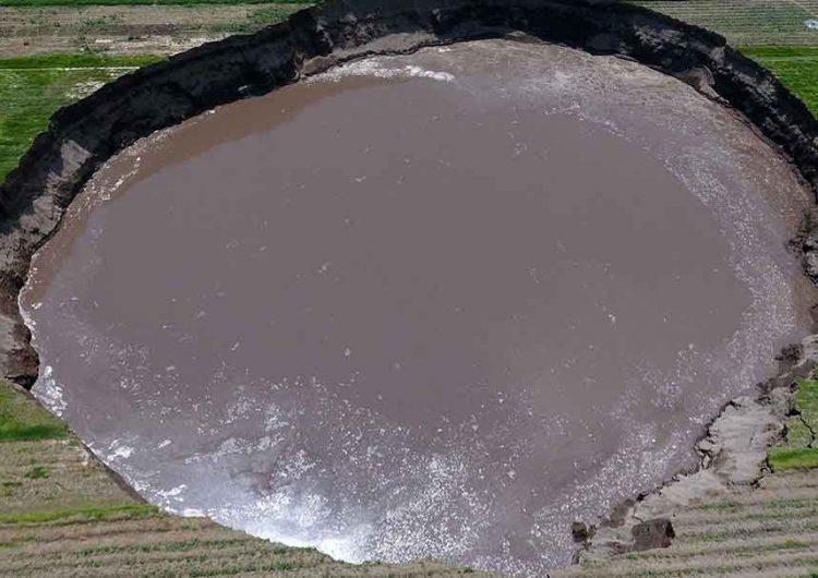 Realizarán otro estudio al socavón de Puebla para determinar riesgos y peligrosidad