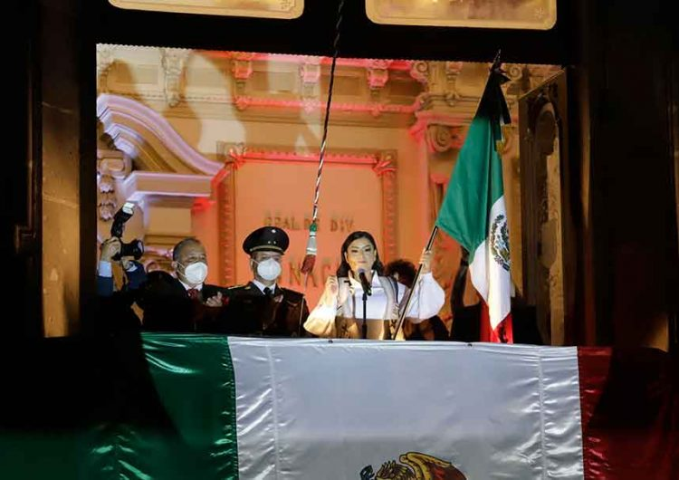Claudia Rivera despide su trienio con Grito de Independencia