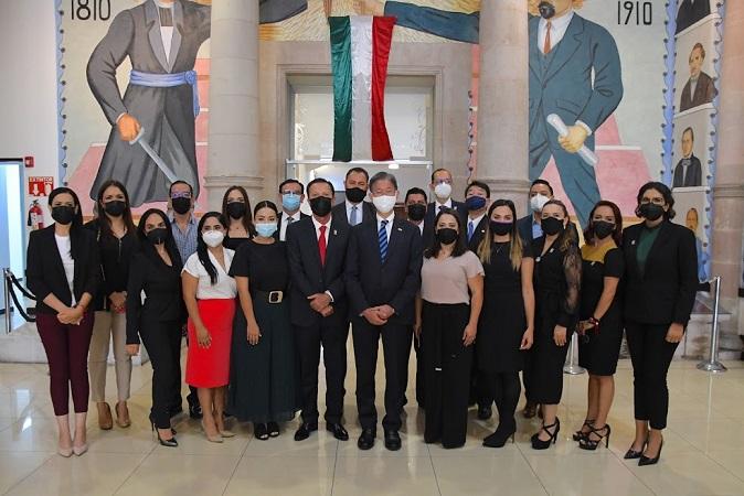 Recibe Congreso de Aguascalientes a embajador de Japón en México