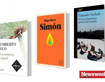Tres libros: Umberto Eco, Miqui Otero, Eduardo Sacheri