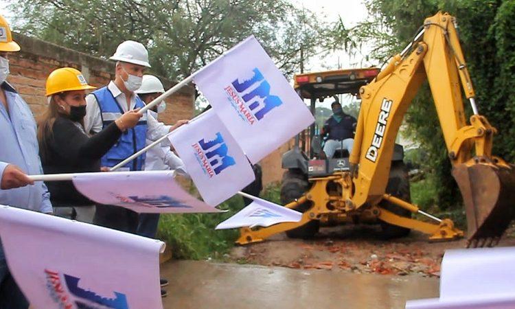 Inician obras de pavimentación en la comunidad El Aurero en Jesús María