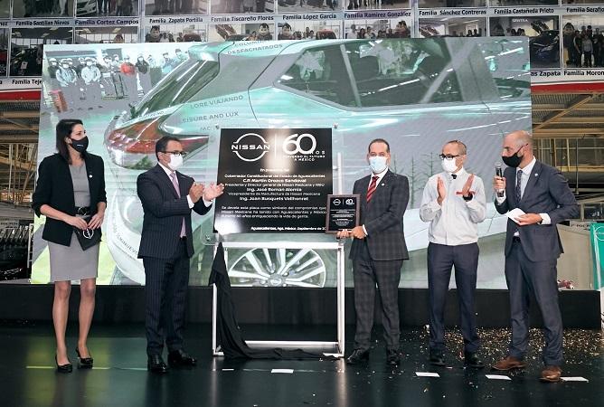 Celebra gobernador de Aguascalientes 60 aniversario de Nissan en México