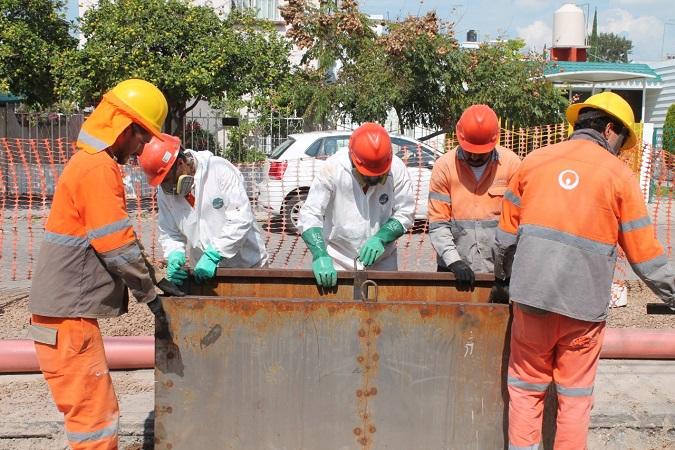 Rehabilita Veolia central de alcantarillado al nororiente de Aguascalientes