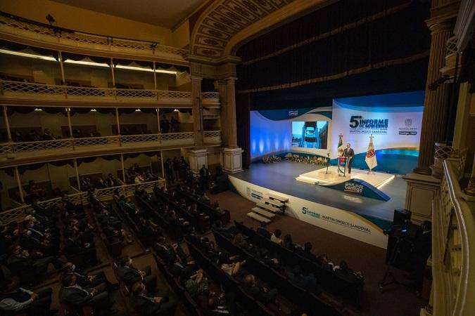 Rindió Martín Orozco su quinto informe como gobernador de Aguascalientes