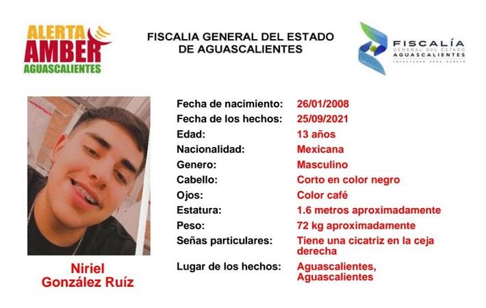 Encuentran en Calvillo a adolescente desaparecido en Aguascalientes