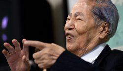 Sunao Tsuboi, sobreviviente de Hiroshima y defensor del desarme nuclear,…