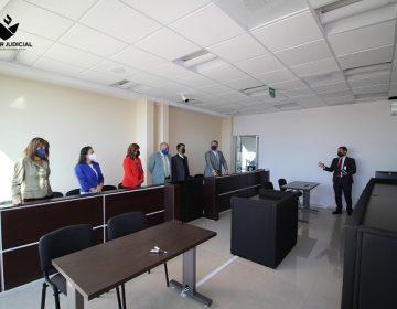 Magistrados visitan nuevos juzgados laborales en Aguascalientes